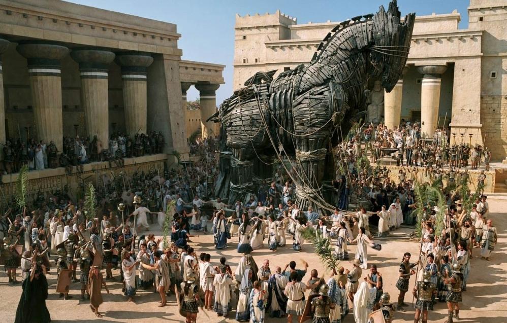 Feit en fictie Troy - paard