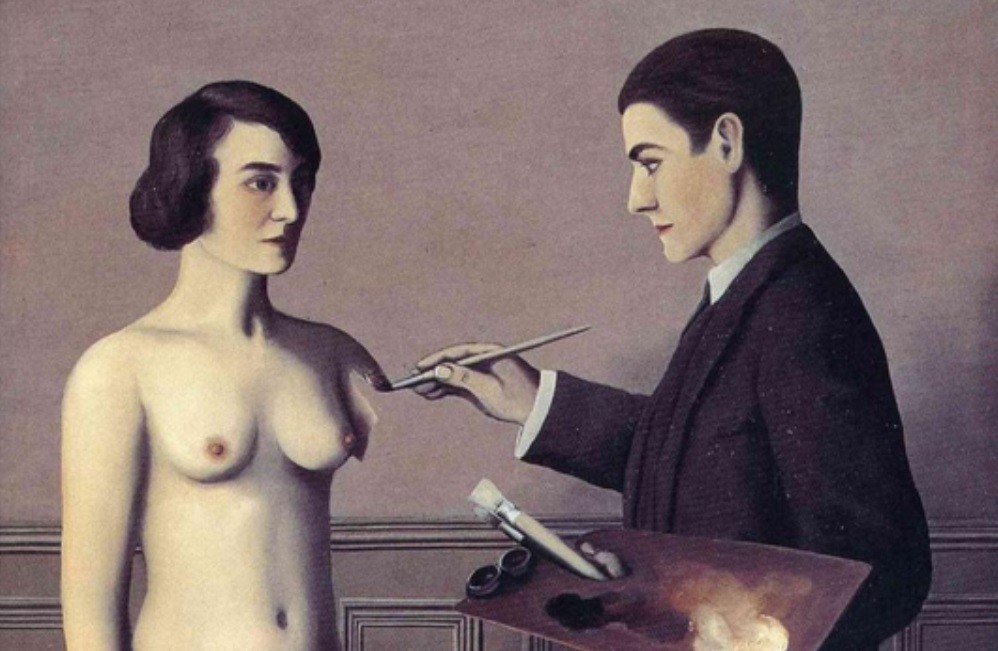 Attempting the impossible van René Margritte uit 1928. (foto: WikiArt)