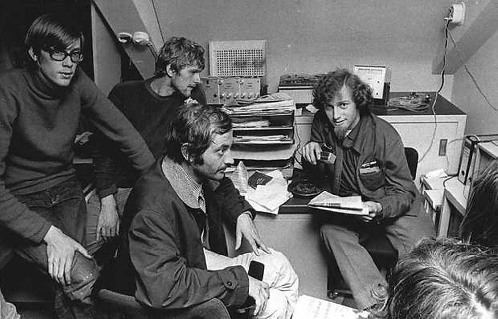 Studenten van de Universiteit Amsterdam in 1969. (Foto: ANP Foundation)