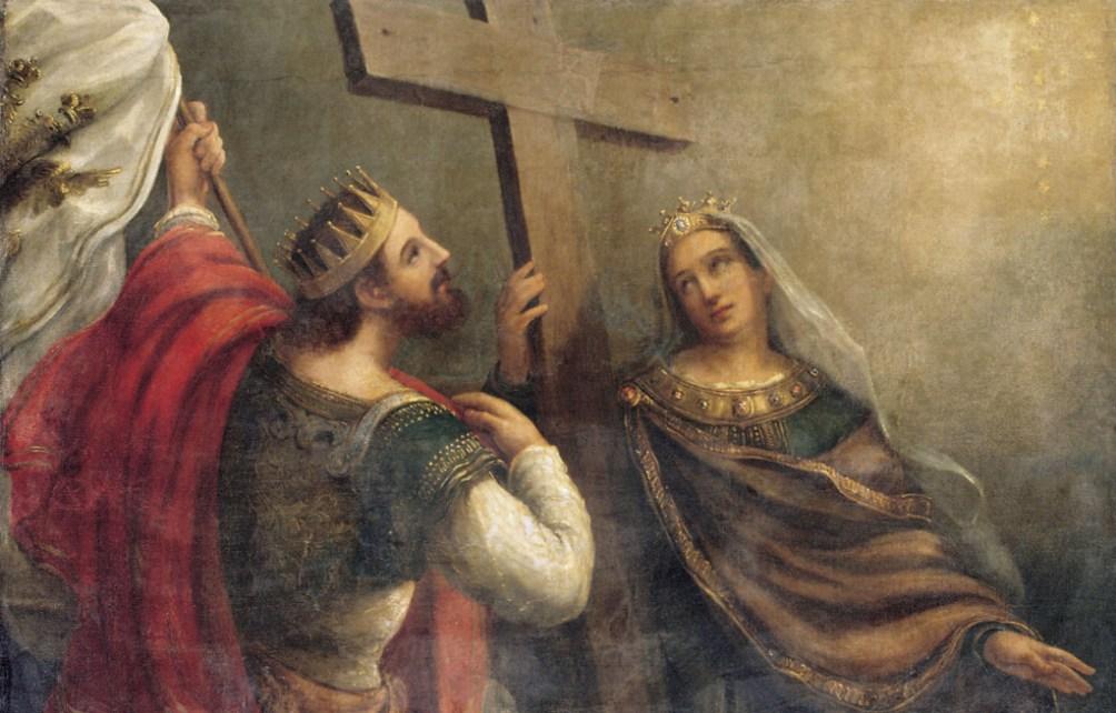 Constantijn en Helena aanbidden het kruis. (Foto: Wikimedia)