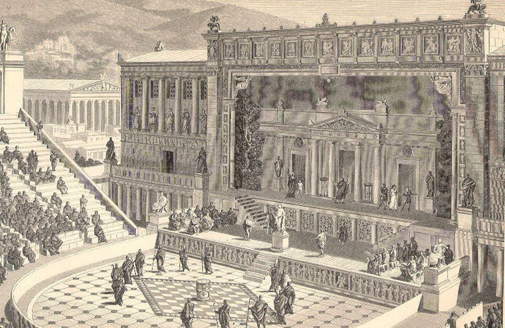 Tijdens de Grote Dionysia werden verschillende komedies opgevoerd. (foto: Wikimedia)