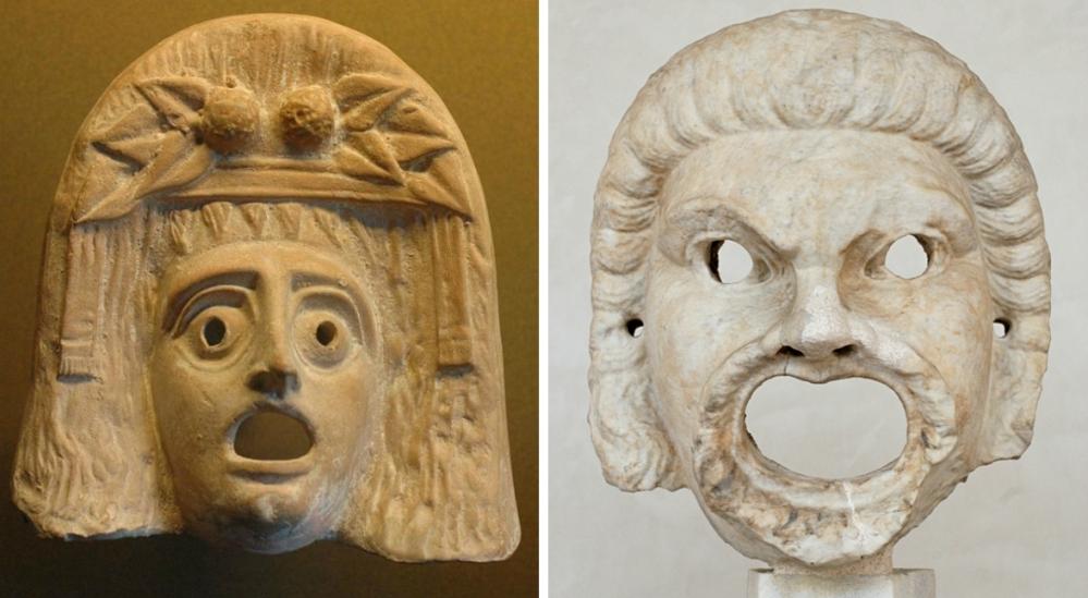 13.03.07.Lachen met Oude Grieken - twee maskers 2