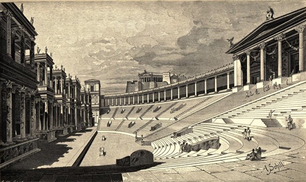 Afbeelding uit 1908. Zo zou het theater er in zijn hoogtijdagen uit gezien moeten hebben. (Foto: Wikimedia)