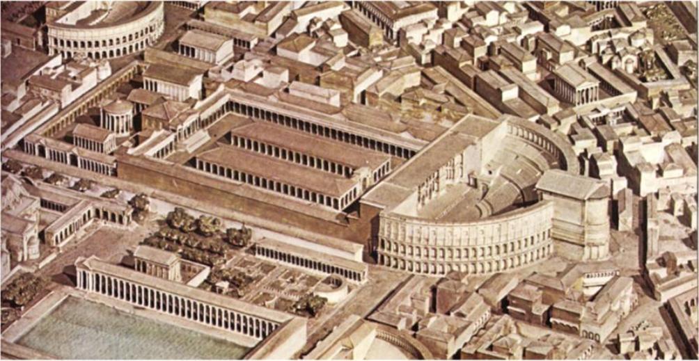Model van het Theater van Pompeius. (Foto:Wikimedia)