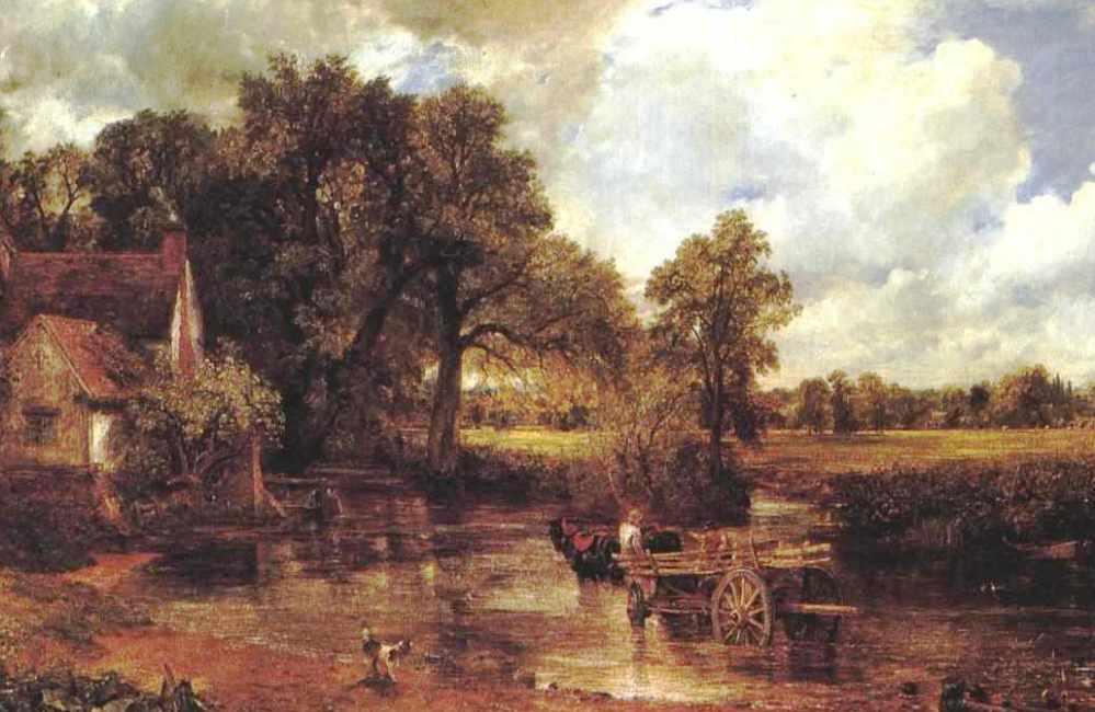 De Hooiwagen van John Constable. Constable wilde met zijn schilderijen de natuur zo natuurgetrouw mogelijk weergeven. (Foto: Wikimedia)