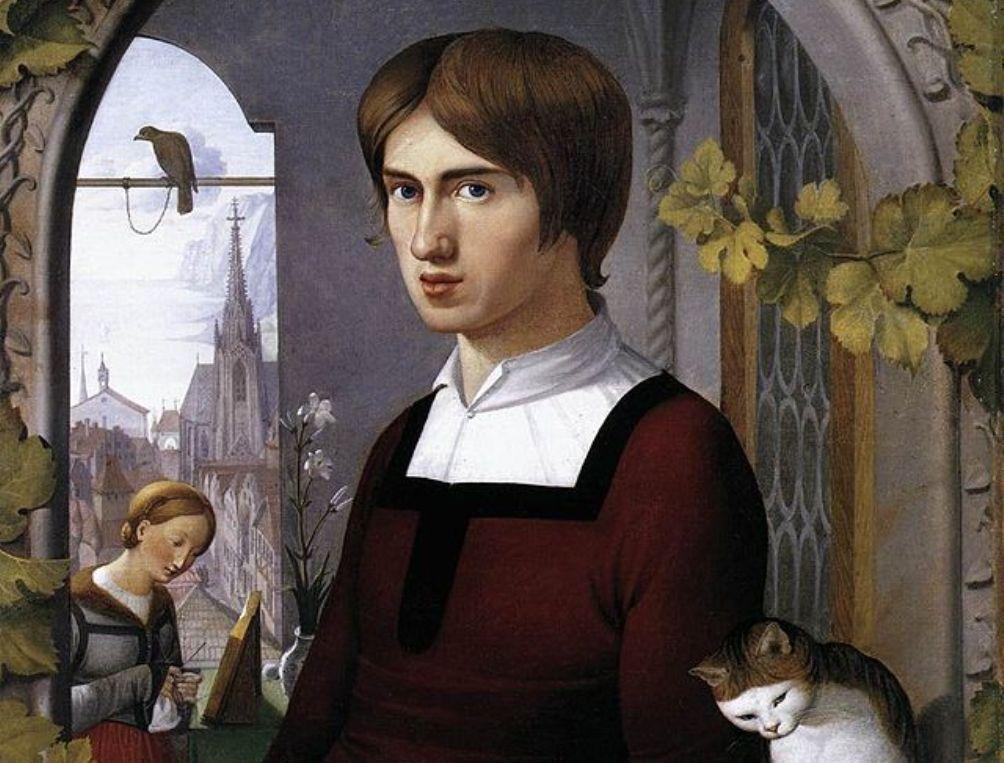 Het portret dat Friedrich Overbeck van Franz Pforr schilderde.