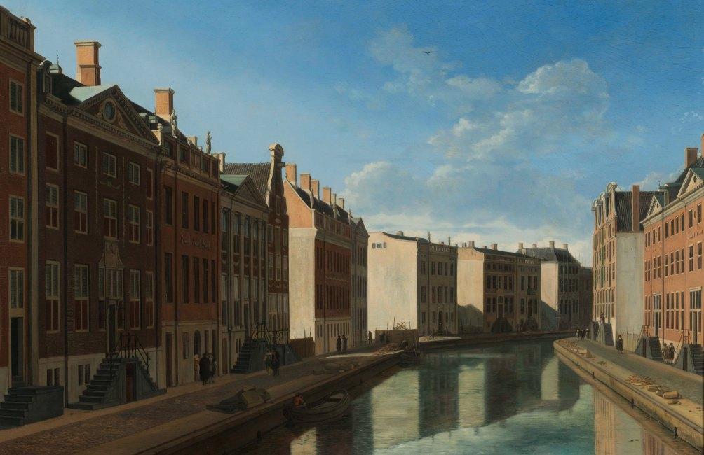 Tijdens de verbouwing kocht het museum enkele interessante stukken aan, zoals De bocht van de Herengracht van Gerrit Berckheyde. (foto: Wikimedia)