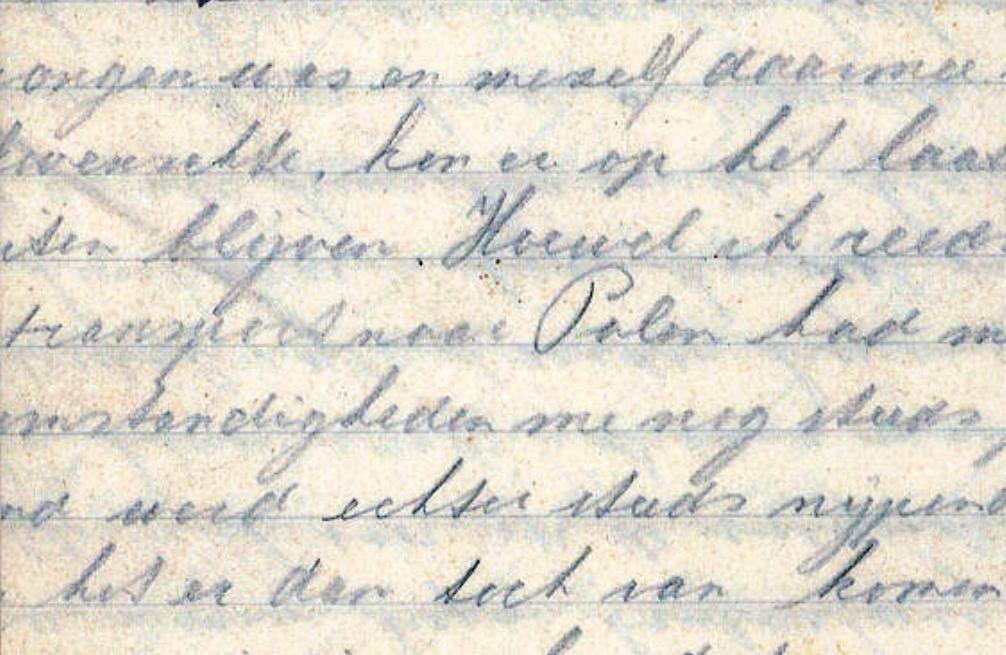 13.05.01.Dagboeken WOII - handschrift