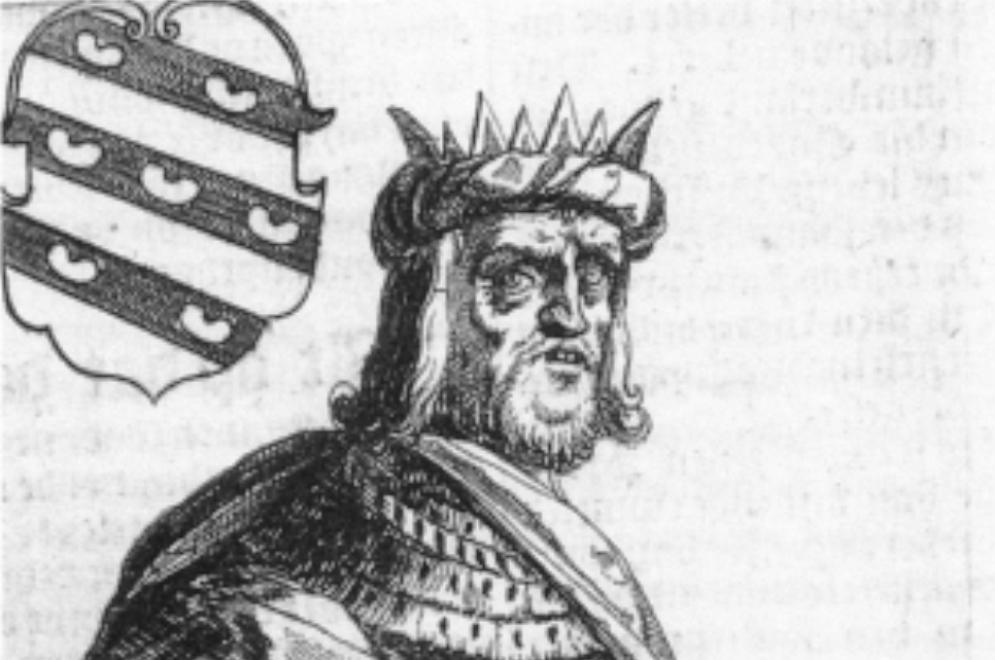 De Friese koning Redbad, uit P. Winsemius, Chronique ofte Historische geschiedenisse van Frieslandt. (foto: Wikimedia)