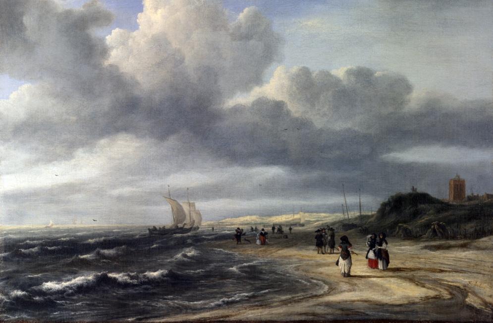 Blik op de woeste kust bij Egmond aan Zee rond 1675. Schilderij van Jacob Isaacksz. van Ruisdael (foto: Wikimedia)