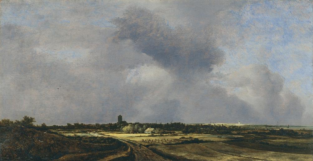 Landschap in 1647 van Jacob Isaacksz. van Ruisdael: Zicht op Naarden (foto: Wikimedia)