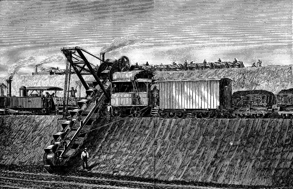 Afbeelding van de aanleg van het Gent-Terneuzen kanaal in 1878. (foto: Wikimedia)
