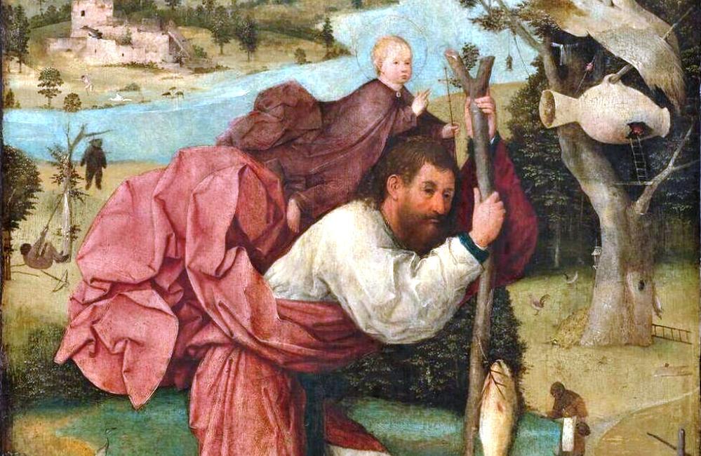 De Heilige Christoffel door Jheronimus Bosch.