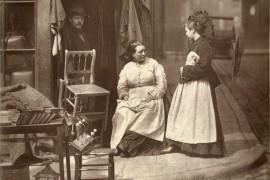 Straatleven van Londen in 1877