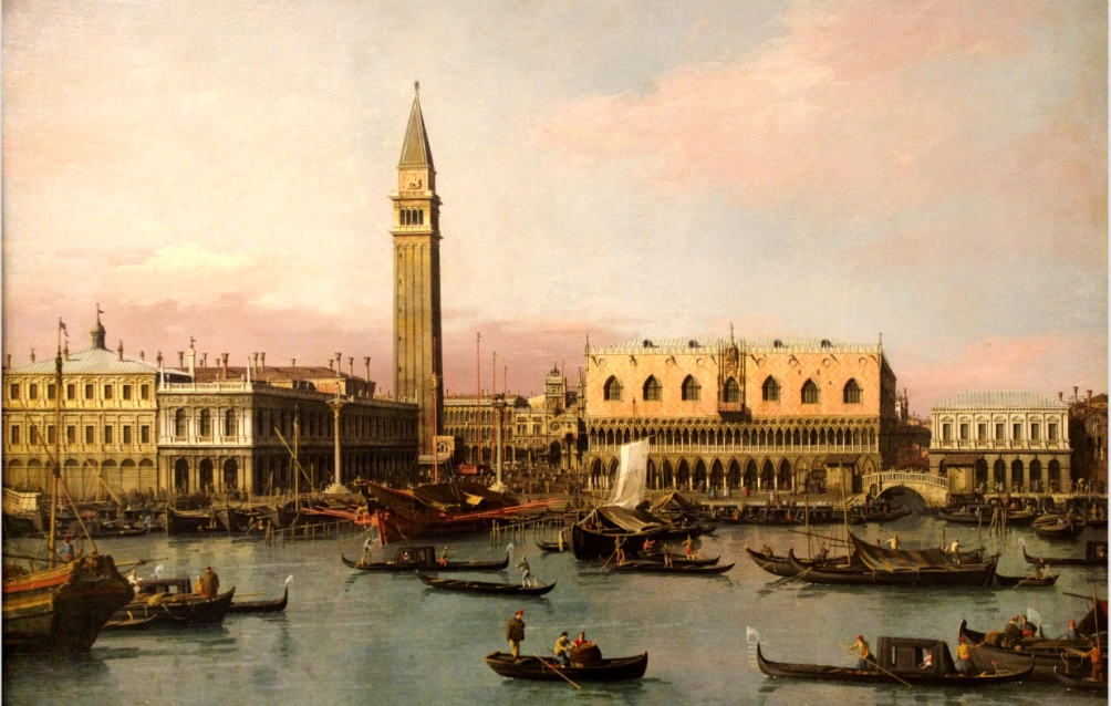 Venetië zoals de rondreizende Engelsman het in de 18e eeuw waarschijnlijk aantrof. Schilderij van Canaletto. (foto: Wikimedia)