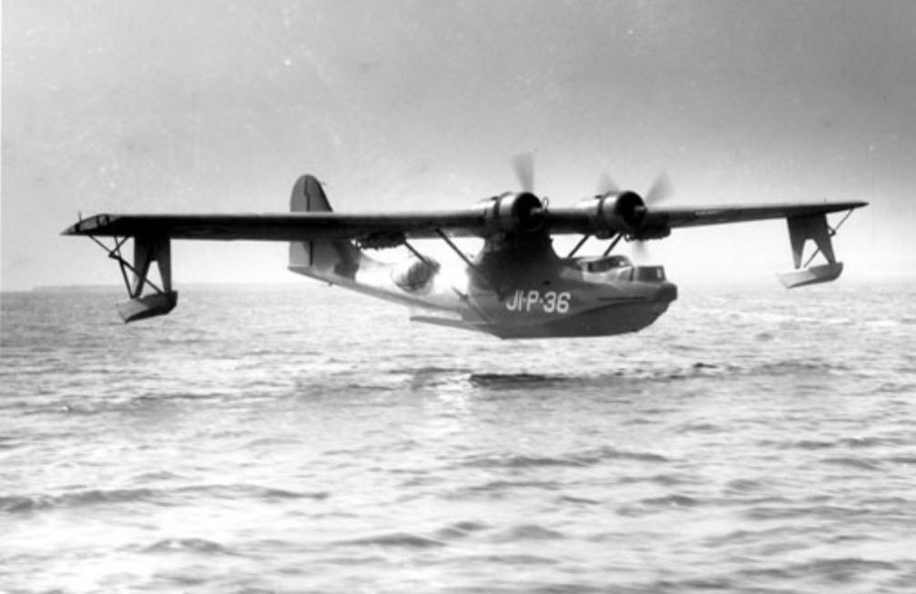 De PBY-Catalina, hoogst waarschijnlijk het type watervliegtuig dat van Kleffens en Welter van Nederland  naar Engeland heeft vervoerd (foto: Wikimedia)