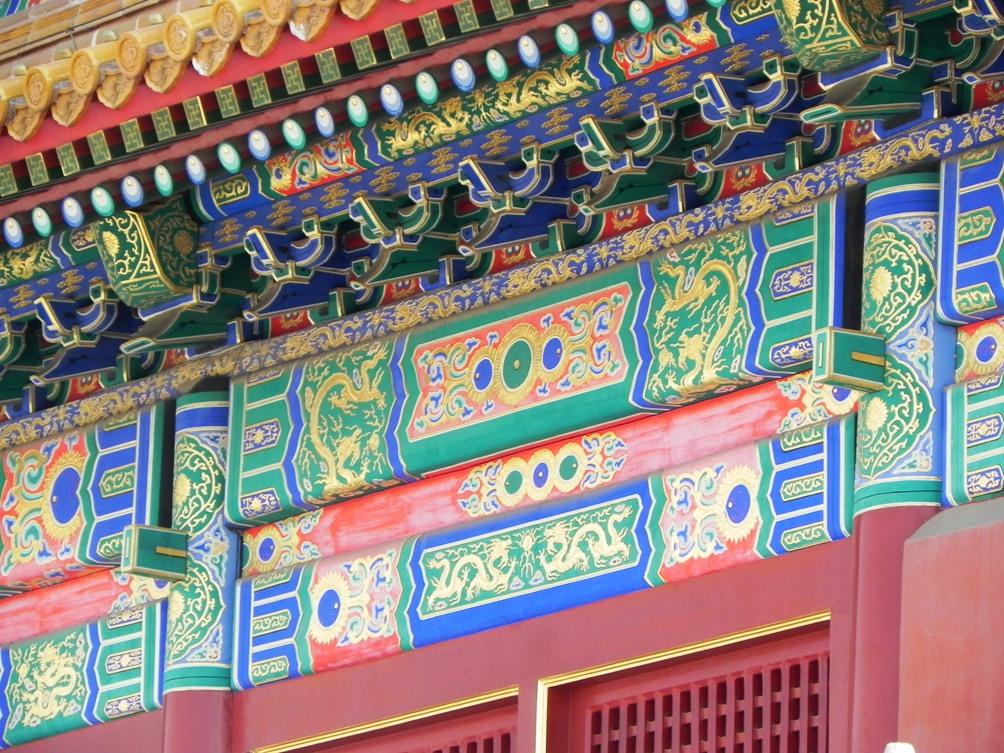 Gerenoveerde decoratie van de Hal van de Opperste Harmonie. (Foto: Laura Schute)