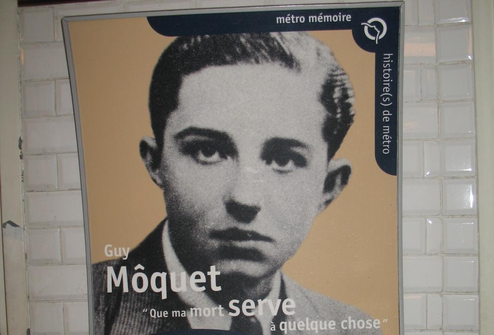 Guy Moquet, afgebeeld in het gelijknamig metrostation.
