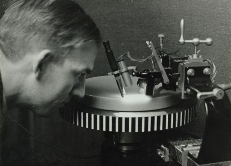 Grammofoonplaten-opname contoleur