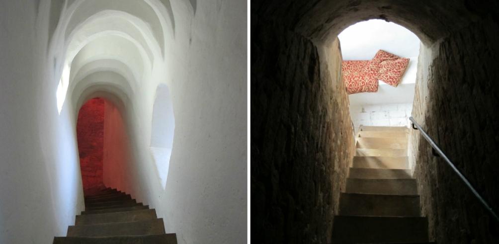 Middeleeuwse muurtrappen van kasteel Ammersoyen.