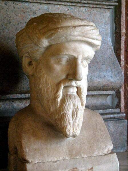 Buste van de filosoof Pythagoras. (foto: Wikimedia)
