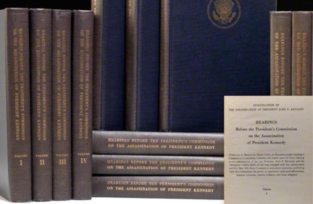 Het rapport van de Warren Commissie naar de moord op John F. Kennedy. (foto: Wikimedia)