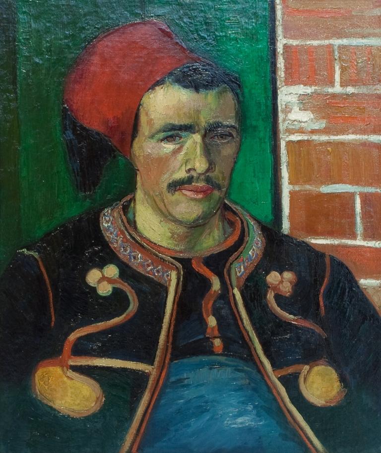 De zouaaf, 1888 door Vincent van Gogh.