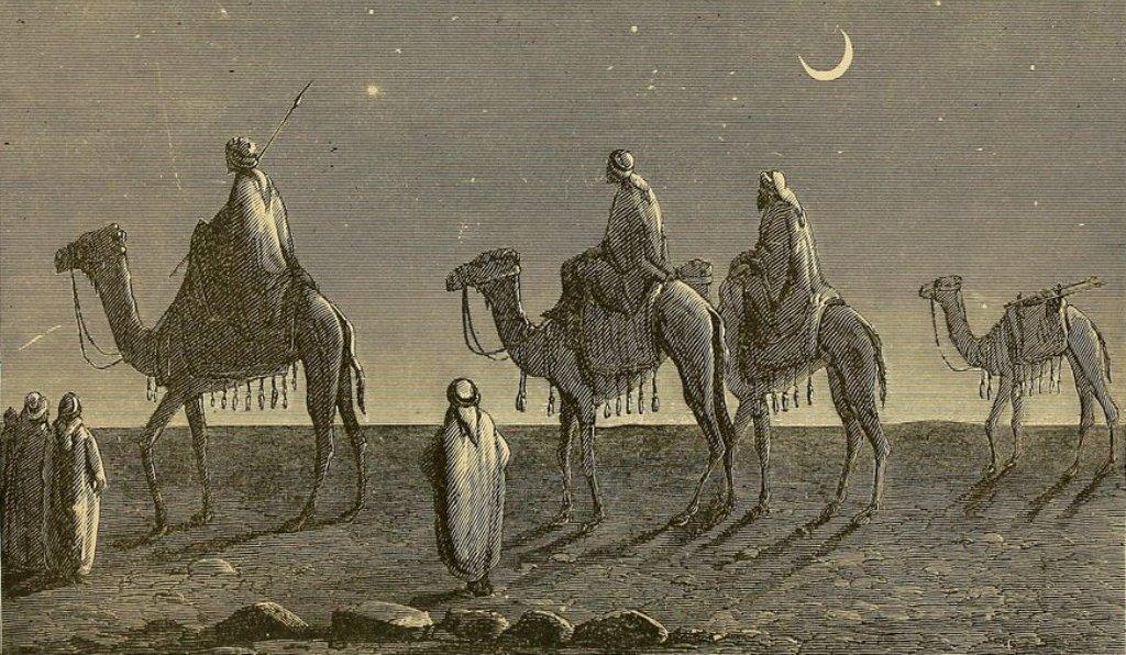 Afbeelding uit Travels in Arabia, New York 1892, waarin ook de avonturen van John Buckhardt beschreven worden.