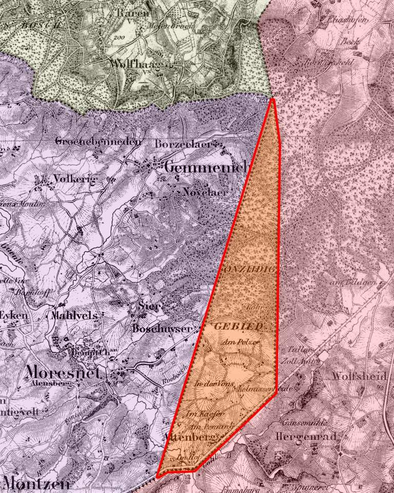 Neutraal Moresnet - kaart