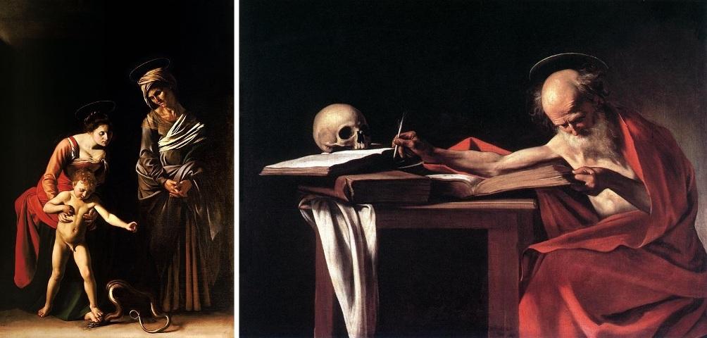 De palfreniers waren helaas niet blij met Caravaggio's schilderij Madonna van de Palafrenieri. Hun St. Anna (rechts) komt er bekaaid vanaf op dit portret (foto: Wikimedia).