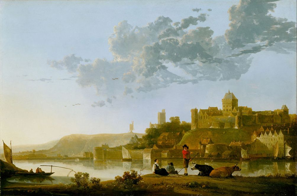Uitzicht op het Valkhof in Nijmegen in de 17e eeuw, geschilderd door door Aelbert Cuyp. (foto: Wikimedia)