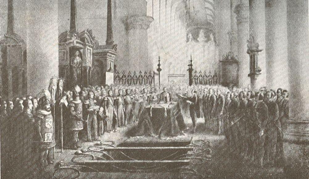 Begrafenis van Willem II op 4 april 1849 (foto: Wikimedia)