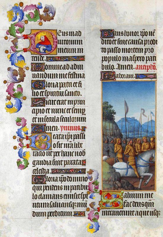 Geïllumeerde handschriften in het getijdenboek Très Riches Heures van Duc de Berry, door de Gebroeders van Limburg.