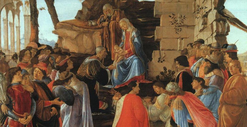 'De aanbidding' door Sandro Botticelli uit ca. 1475. (foto: Wikimedia)