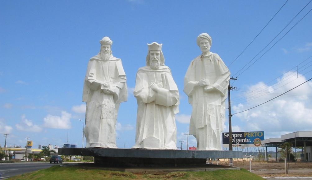Beelden van de Drie Wijzen in Natal, Brazillë.
