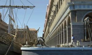 Bekijk de oude havens van Rome