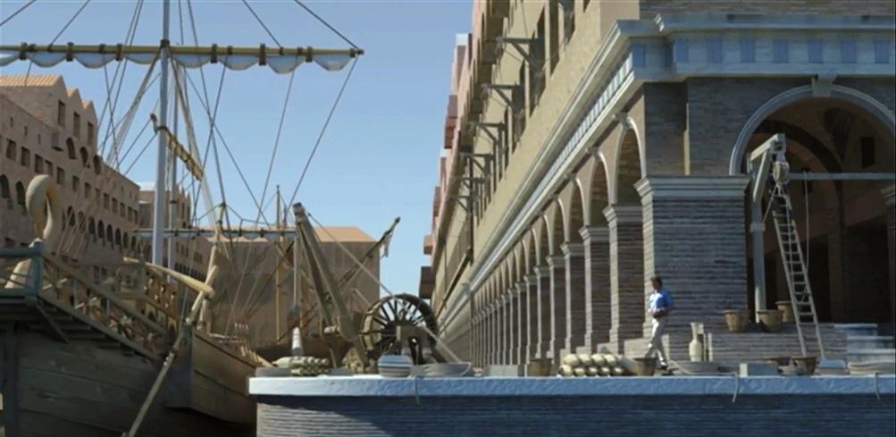 De oude havens van Rome