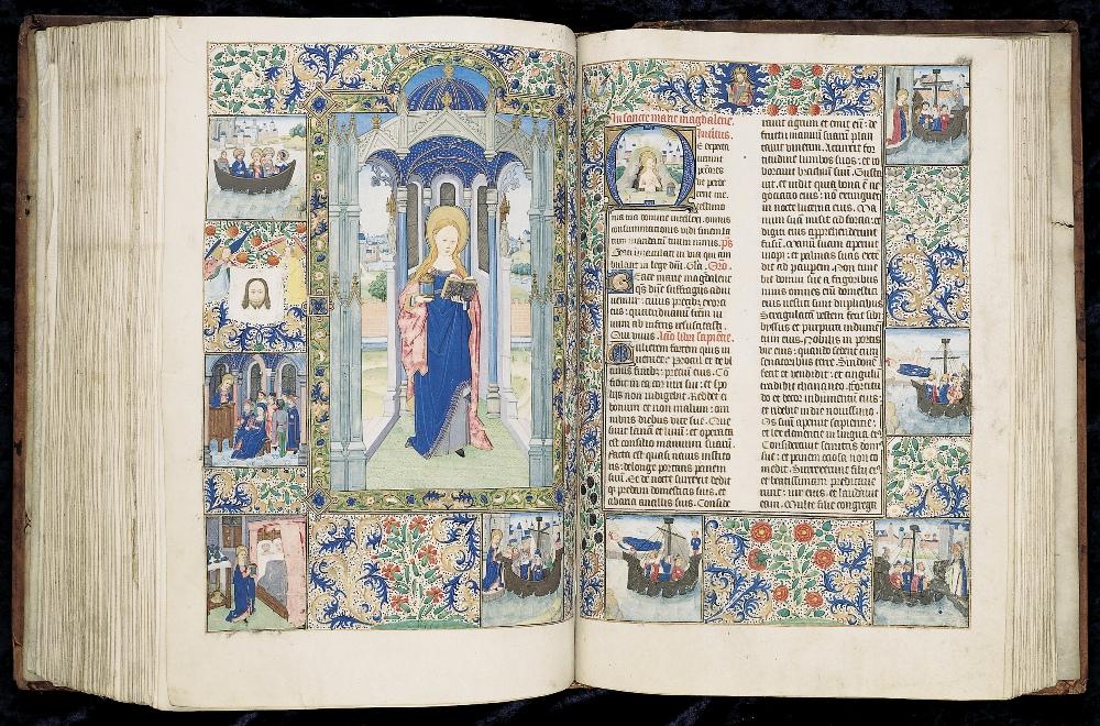 Huis Bergh heeft ook vele middeleeuwse handschriften in de collectie, waaronder dit Getijdenboek. 'Kalender en ordo Missalis fratrum minorum segundum consuetudinem