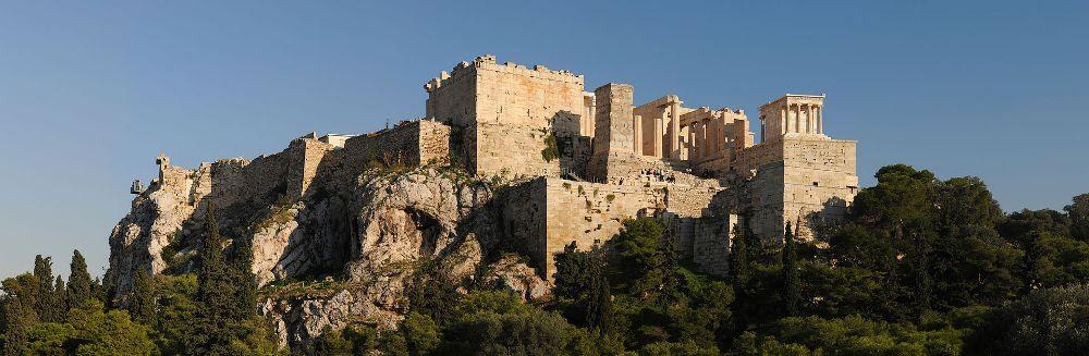 Zicht op de Akropolis.