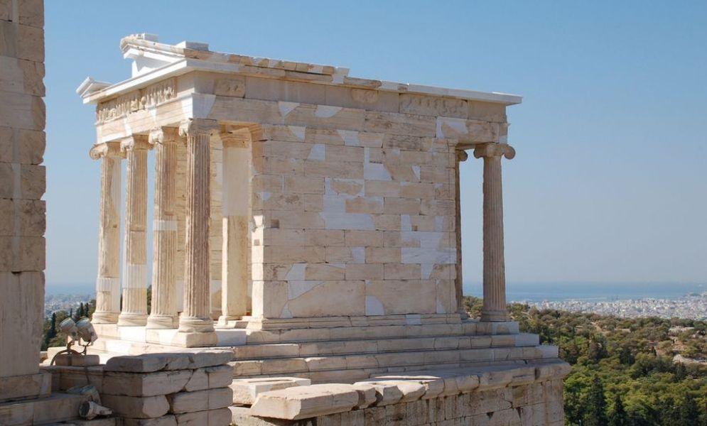 De tempel van Athene Niké op de Acropolis.