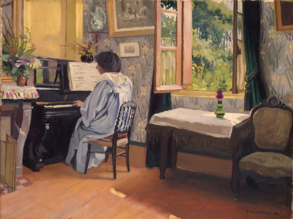 Schilderij 'Vrouw achter een piano' van Félix Vallotton (Foto: State Hermitage Museum, St Petersburg)