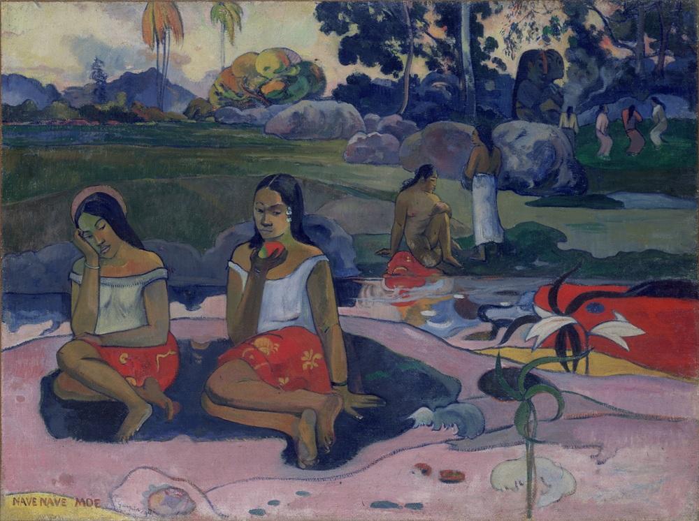 Schilderij 'Heilige lente: Zoete dromen (Nave Nave Moe)' van Paul Gauguin (Foto: © State Hermitage Museum, St Petersburg