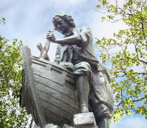 Standbeeld van Peter de Grote in Zaandam. (foto: Wikimedia)