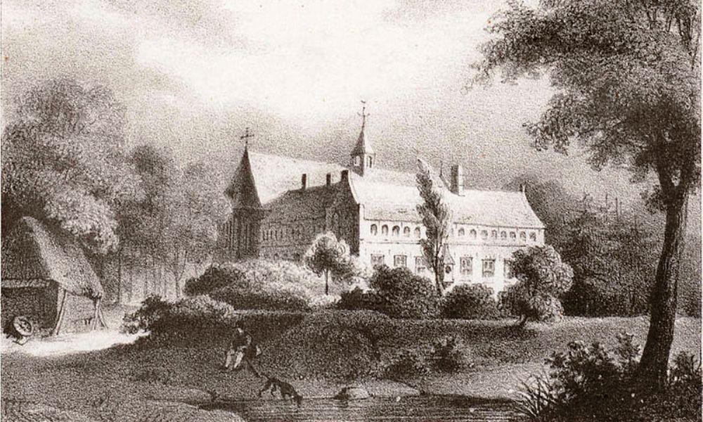 Op een ets van Jan Ensing uit 1842 is te zien hoe Klooster Ter Apel er destijds uit moet hebben gezien.