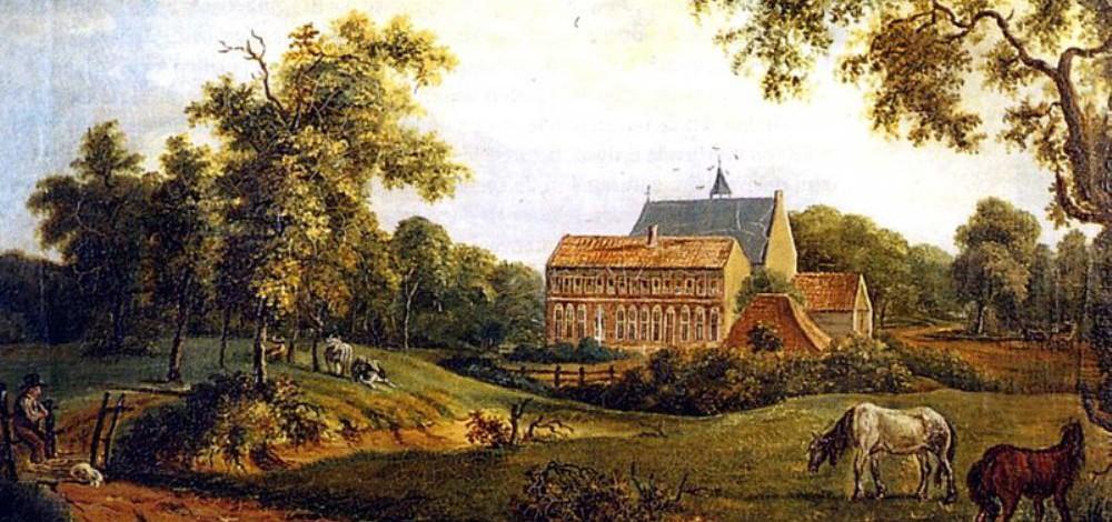 Klooster Ter Apel geschilderd door Arnold Hendrik Koning in 1834 (foto: Wikimedia).