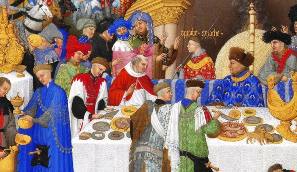 Gebroeders van Limburg, Januari, Très Riches Heures, ca. 1410 (foto: Wikimedia)