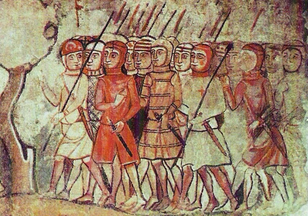 Een afbeelding van de gevreesde Almogavers tijdens de verovering van Mallorca.