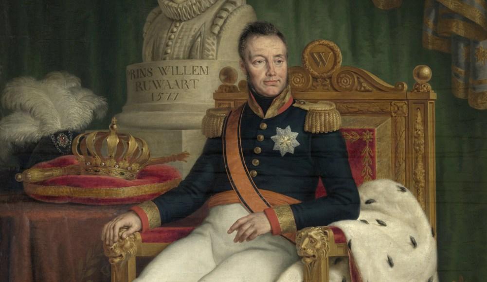 Detail van portret van Willem I door Matthias Ignatius van Bree (foto: Wikimedia)