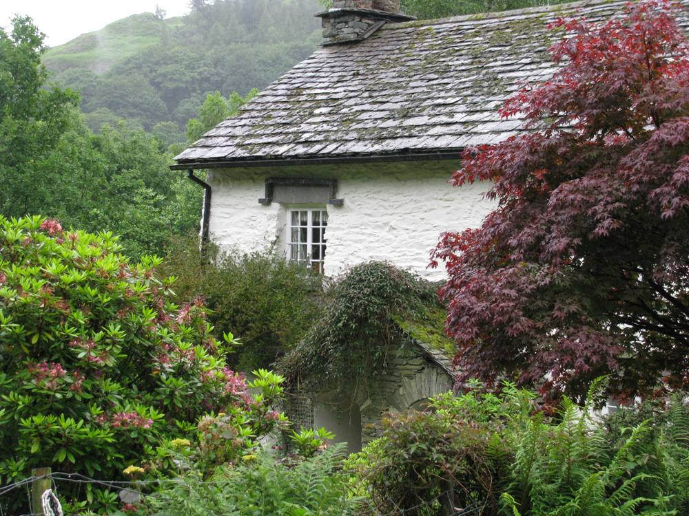 Huis en tuinen 'Rydall Hall' waar de dichter William Wordsworth woonde (foto: RachelRodgers).
