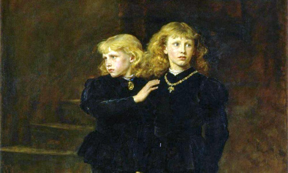 Een schilderij van de prinsen in de toren, vervaardigd door John Everett Millais in 1878.